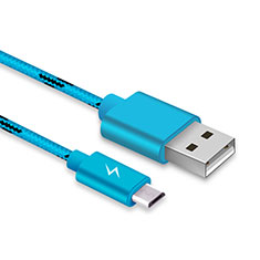 Cable USB 2.0 Android Universel A03 pour Huawei Honor Magic 2 Bleu Ciel