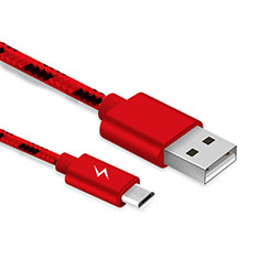 Cable USB 2.0 Android Universel A03 pour Huawei P Smart 2019 Rouge