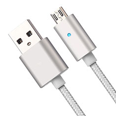 Cable USB 2.0 Android Universel A08 pour Huawei Honor Magic 2 Argent