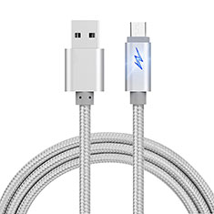 Cable USB 2.0 Android Universel A10 pour Huawei Honor Magic 2 Argent