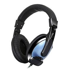 Casque Ecouteur Filaire Sport Stereo Intra-auriculaire Oreillette H53 pour Huawei Mate 30 Bleu