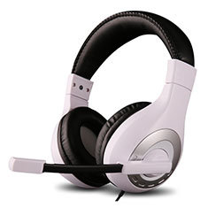 Casque Filaire Sport Stereo Ecouteur Intra-auriculaire Oreillette H50 pour Huawei Mate 30 Blanc