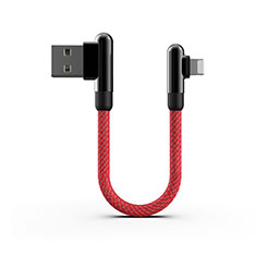 Chargeur Cable Data Synchro Cable 20cm S02 pour Apple iPad New Air (2019) 10.5 Rouge