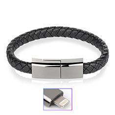 Chargeur Cable Data Synchro Cable 20cm S02 pour Apple iPhone 12 Pro Noir