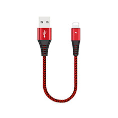 Chargeur Cable Data Synchro Cable 30cm D16 pour Apple iPad New Air (2019) 10.5 Rouge