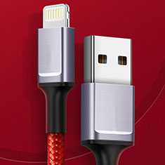 Chargeur Cable Data Synchro Cable C03 pour Apple iPhone 11 Pro Rouge