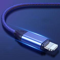 Chargeur Cable Data Synchro Cable C04 pour Apple iPhone 11 Pro Bleu