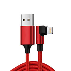 Chargeur Cable Data Synchro Cable C10 pour Apple iPhone 11 Pro Rouge
