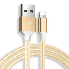 Chargeur Cable Data Synchro Cable D04 pour Apple iPhone 12 Or