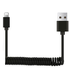 Chargeur Cable Data Synchro Cable D08 pour Apple iPhone 11 Pro Noir