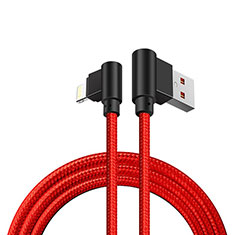 Chargeur Cable Data Synchro Cable D15 pour Apple iPhone 12 Pro Rouge