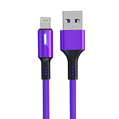 Chargeur Cable Data Synchro Cable D21 pour Apple iPhone 12 Violet