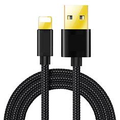 Chargeur Cable Data Synchro Cable L02 pour Apple iPhone Xs Max Noir