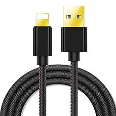 Chargeur Cable Data Synchro Cable L04 pour Apple iPhone 11 Pro Noir