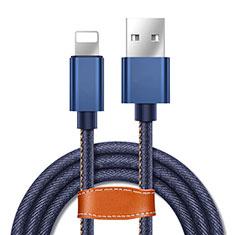 Chargeur Cable Data Synchro Cable L04 pour Apple iPhone Xs Max Bleu