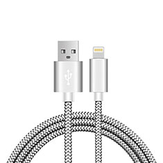 Chargeur Cable Data Synchro Cable L07 pour Apple iPhone Xs Max Argent