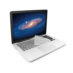 Clavier Protection Ultra Fine Silicone Souple Transparente pour Apple MacBook 12 pouces Blanc