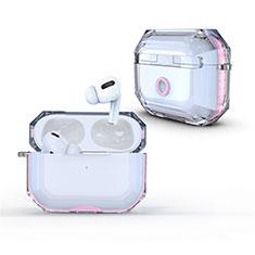 Coque Antichocs Rigide Transparente Crystal Etui Housse H01 pour Apple AirPods Pro Rose