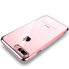 coque antichocs rigide transparente crystal etui housse h01 pour apple iphone 7 plus or rose 13537