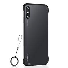 Coque Antichocs Rigide Transparente Crystal Etui Housse H01 pour Huawei Enjoy 10e Noir
