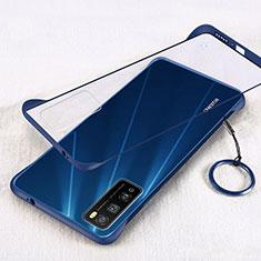 Coque Antichocs Rigide Transparente Crystal Etui Housse H01 pour Huawei Enjoy 20 Pro 5G Bleu