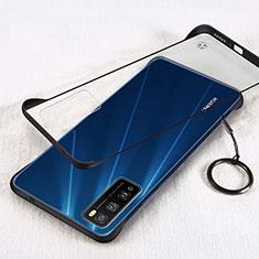Coque Antichocs Rigide Transparente Crystal Etui Housse H01 pour Huawei Enjoy 20 Pro 5G Noir