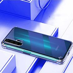 Coque Antichocs Rigide Transparente Crystal Etui Housse H01 pour Huawei Honor 20 Pro Bleu