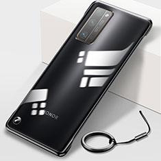Coque Antichocs Rigide Transparente Crystal Etui Housse H01 pour Huawei Honor 30 Pro+ Plus Noir