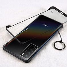 Coque Antichocs Rigide Transparente Crystal Etui Housse H01 pour Huawei Honor Play4 5G Noir