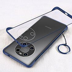 Coque Antichocs Rigide Transparente Crystal Etui Housse H01 pour Huawei Mate 40 Bleu