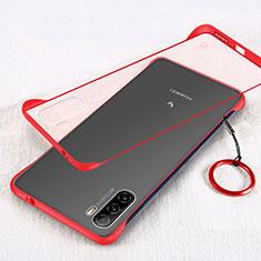 Coque Antichocs Rigide Transparente Crystal Etui Housse H01 pour Huawei Mate 40 Lite 5G Rouge