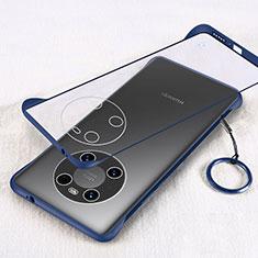 Coque Antichocs Rigide Transparente Crystal Etui Housse H01 pour Huawei Mate 40 Pro Bleu