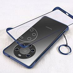 Coque Antichocs Rigide Transparente Crystal Etui Housse H01 pour Huawei Mate 40 Pro+ Plus Bleu