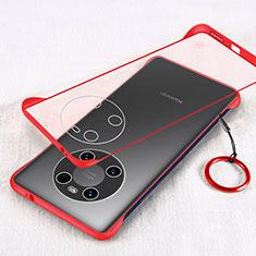 Coque Antichocs Rigide Transparente Crystal Etui Housse H01 pour Huawei Mate 40 Pro Rouge
