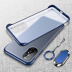Coque Antichocs Rigide Transparente Crystal Etui Housse H01 pour Huawei Nova 8 5G Bleu