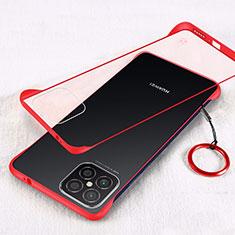 Coque Antichocs Rigide Transparente Crystal Etui Housse H01 pour Huawei Nova 8 SE 5G Rouge