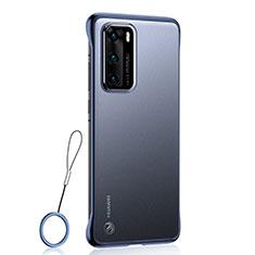 Coque Antichocs Rigide Transparente Crystal Etui Housse H01 pour Huawei P40 Bleu