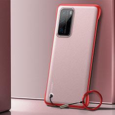 Coque Antichocs Rigide Transparente Crystal Etui Housse H01 pour Huawei P40 Pro Rouge