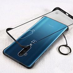 Coque Antichocs Rigide Transparente Crystal Etui Housse H01 pour OnePlus 7T Pro 5G Noir