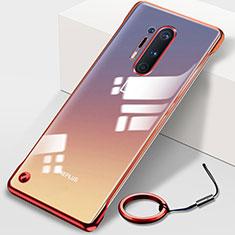 Coque Antichocs Rigide Transparente Crystal Etui Housse H01 pour OnePlus 8 Pro Rouge