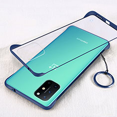 Coque Antichocs Rigide Transparente Crystal Etui Housse H01 pour OnePlus 8T 5G Bleu