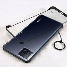 Coque Antichocs Rigide Transparente Crystal Etui Housse H01 pour Oppo A73 5G Noir