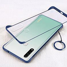 Coque Antichocs Rigide Transparente Crystal Etui Housse H01 pour Oppo A8 Bleu