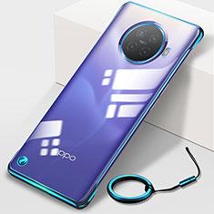 Coque Antichocs Rigide Transparente Crystal Etui Housse H01 pour Oppo Ace2 Bleu