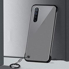 Coque Antichocs Rigide Transparente Crystal Etui Housse H01 pour Oppo F15 Noir