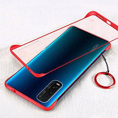 Coque Antichocs Rigide Transparente Crystal Etui Housse H01 pour Oppo Find X2 Rouge
