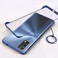 Coque Antichocs Rigide Transparente Crystal Etui Housse H01 pour Oppo K7x 5G Bleu