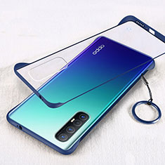 Coque Antichocs Rigide Transparente Crystal Etui Housse H01 pour Oppo Reno3 Pro Bleu