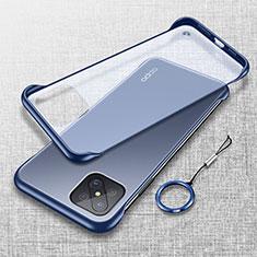 Coque Antichocs Rigide Transparente Crystal Etui Housse H01 pour Oppo Reno4 Z 5G Bleu