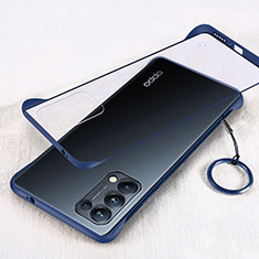 Coque Antichocs Rigide Transparente Crystal Etui Housse H01 pour Oppo Reno5 Pro 5G Bleu